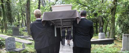 Begrafenis in Driehuis.
