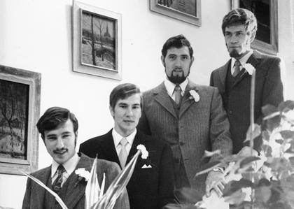 1967:  Mijn vier neven in het stadhuis van Zaandam.