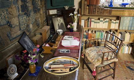 De werkkamer van Vita in de kasteeltoren.