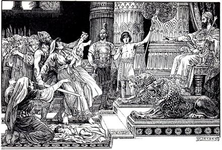 Salomon velt zijn oordeel, volgens C. Jetses.